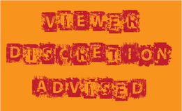 Viewer Discretion Advised Grunge vector Stock Photo
