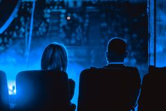 Audience at the concert stock photography