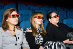 Viewers of 3D movie theater Royalty Free Stock Photo
