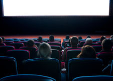 Viewers at cinema Stock Images