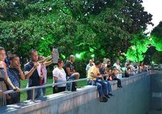 Viewers of concert in Izmir international fair 201 Royalty Free Stock Photo