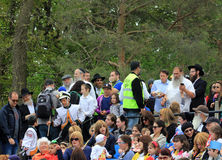 Viewers at Lag B'Omer Celebration Royalty Free Stock Photo