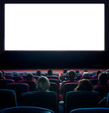 Viewers at movie theater Stock Image