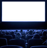 Viewers at movie theater Stock Photos
