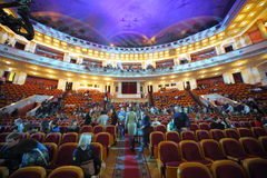 Viewers sit in place in the Central Academic Theatre Royalty Free Stock Photo