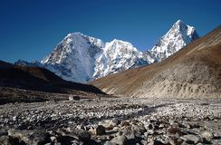 Viewes of the Everest base camp trail Stock Photography