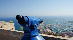 Viewfinder in Alicante Spanien stockbilder