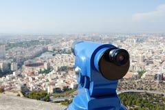Viewfinder in Alicante Spanien lizenzfreie stockfotos