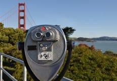 ViewFinder da ponte de porta dourada Imagens de Stock Royalty Free