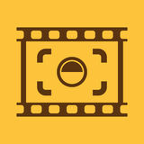 The viewfinder icon. Focusing and photography, photo symbol. Flat. Vector illustration. Button Set Royalty Free Stock Photography