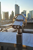 Viewfinder in city of Frankfurt royalty free stock photography