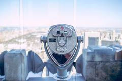 Viewfinder over urban skyline Royalty Free Stock Images