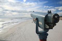 Viewfinder on Pensacola Beach Royalty Free Stock Images