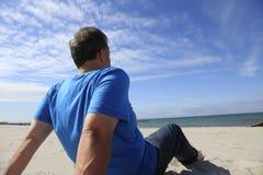 viewing человека hoizon Стоковая Фотография RF