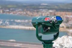 Viewing binocluars na skale Gibralta Obrazy Royalty Free