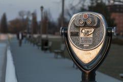 Viewing binocular. Along riverside of windsor ontario royalty free stock photos