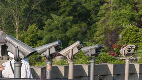 Viewing binocular Stock Photo