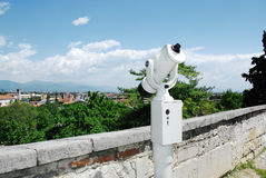 Viewing Binoculars Overlooking Udine Royalty Free Stock Images