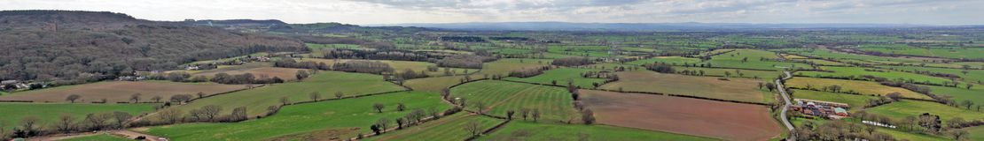Viewing the cheshire plains Stock Image