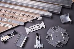 Viewing and fixing plasterboard Royalty Free Stock Image
