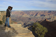 Viewing the Grand Canyon Stock Photo
