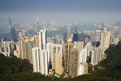 Viewing Hong Kong. Hong Kong from the peak Royalty Free Stock Photography