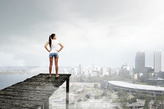 Viewing modern city from top Stock Photo