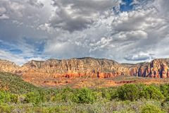 Viewing the Mt. Wison burn. This image was captured on Soldier Pass Trail in Sedona, AZ Stock Photography