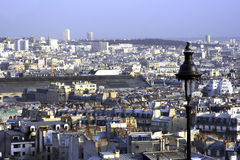 Viewing Paris from Montmartre Stock Image