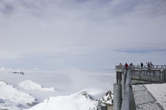 Viewing platform in the Alps Royalty Free Stock Images