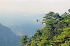 Viewing platform-Azalea Mountain-Jinggang Mountains. Jinggangshan is located in Ji`an City, Jiangxi Province, is located in the eastern border, Nanling North Stock Photos