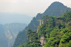 Viewing platform-Azalea Mountain-Jinggang Mountains. Jinggangshan is located in Ji`an City, Jiangxi Province, is located in the eastern border, Nanling North Stock Image