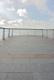 Viewing platform at coast Stock Photography