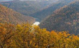 Viewing platform at Coopers Rock State Forest WV royalty free stock photo