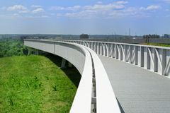 Viewing platform on the Energy Hill Georgswerder in Hamburg, Germany. Viewing platform, bridge on the Energy Hill Georgswerder in Hamburg, Germany. `Energy Hill stock photography
