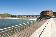 Viewing platform and Garonne river Stock Image
