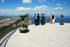 Viewing platform, Gibraltar. Royalty Free Stock Images