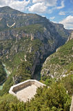 Viewing platform Gorges du Verdon. Viewing platform near the roadside looking into the Gorges du Verdon Royalty Free Stock Photos