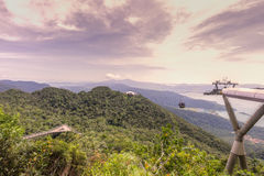 Viewing platform, Gunung Machinchang, Langkawi Royalty Free Stock Image