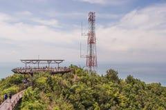 Viewing platform, Gunung Machinchang, Langkawi stock images