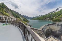 Kurobe Daiyon Dam in Tateyama Kurobe Alpine Stock Images