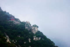Viewing platform in Mount Tai Royalty Free Stock Photo