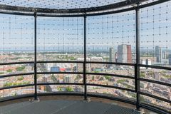 Viewing platform at a skyscraper in the Dutch city The Hague Stock Photo