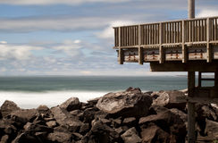 Viewing Platform at the South Jetty Royalty Free Stock Photos