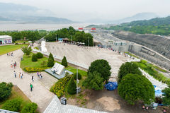 Viewing platform Three Gorges Dam Royalty Free Stock Photography