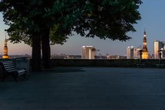 Viewing platform of the city, Tallinn. stock image