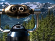A viewing point in Canada Stock Photo