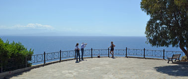 Viewing point at Capo Vaticano Calabria Royalty Free Stock Photography