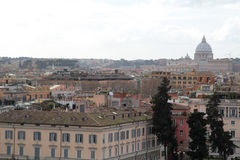 Viewing point near Villa Borghese, Rome, Italy Royalty Free Stock Images