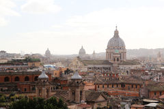 Viewing point near Villa Borghese, Rome, Italy Stock Images